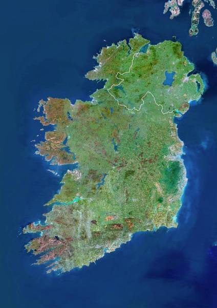 Northern Ireland Photograph - Ireland by Planetobserver/science Photo Library