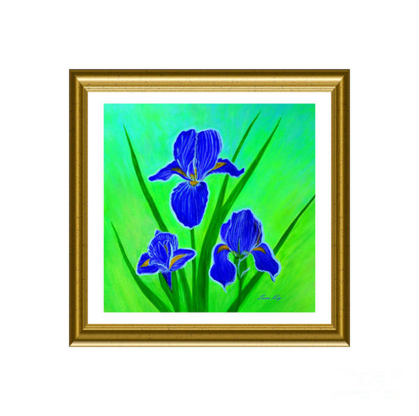 Painting - Iris Flowers. Inspirations Collection by Oksana Semenchenko