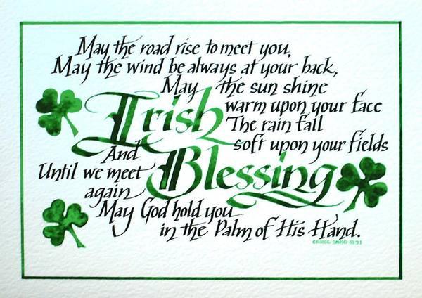 Poem Painting - Irish Blessing Horizontal by Carol Sabo