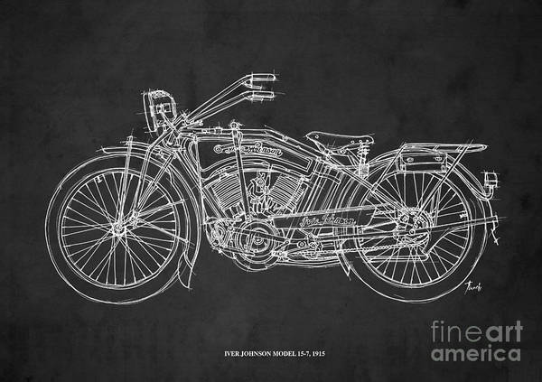 Wall Art - Drawing - Iver Johnson 1915 by Drawspots Illustrations