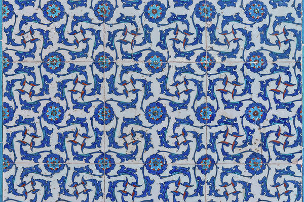 Tile Floor Wall Art - Photograph - Iznik Ceramic Tile by Salvator Barki