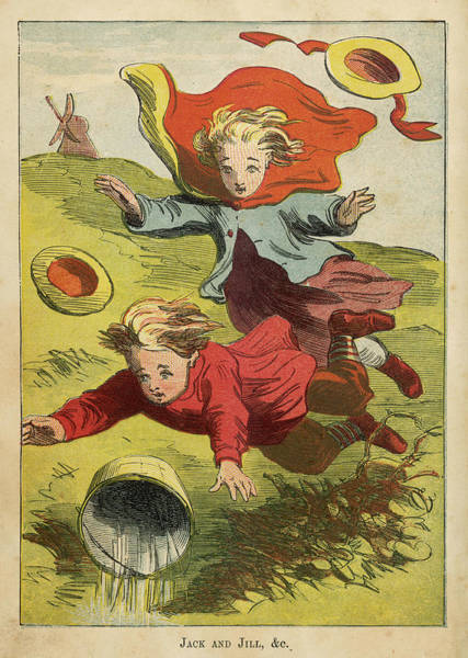 Wall Art - Drawing - Jack And Jill Went Up The  Hill by Mary Evans Picture Library