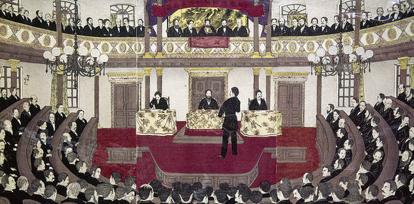 Emperor Of Japan Wall Art - Painting - Japan Parliament, 1890 by Granger