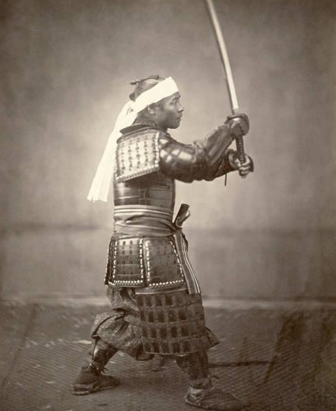 Wall Art - Photograph - Japan Samurai, 1863 by Granger