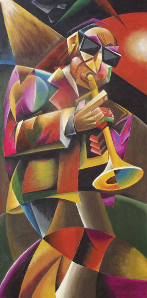 Sax Painting - Jazz Horn by Bob Gregory