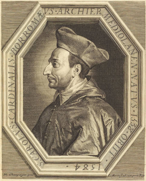 Stipple Drawing - Jean Morin After Philippe De Champaigne French by Quint Lox