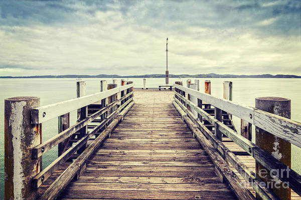 Wall Art - Photograph - Jetty At Maraetai Beach Auckland New Zealand by Colin and Linda McKie
