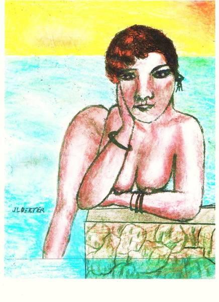 Nipples Drawing - Jetty by John Deeter