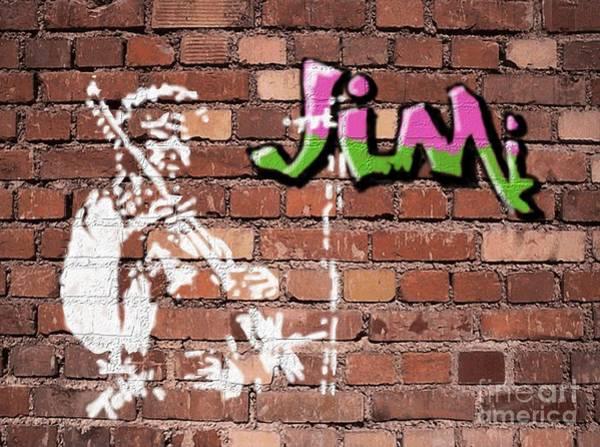 Jimi Graffiti Art Print