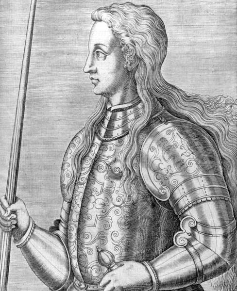 Wall Art - Drawing - Joan Of Arc Maid Of Orleans  French by Mary Evans Picture Library