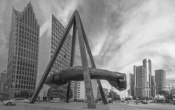 Joe Louis Fist In Detroit  Art Print