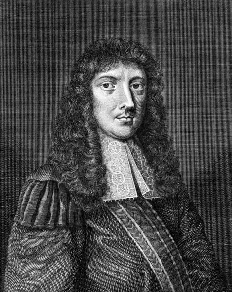 Aubrey Drawing - John Aubrey  Writer And Antiquary by Mary Evans Picture Library