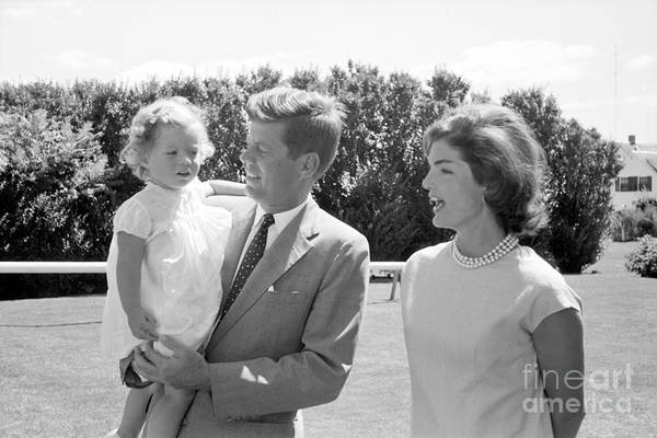 John F Kennedy Photograph - John F. Kennedy With Jacqueline And Caroline 1959 by The Harrington Collection