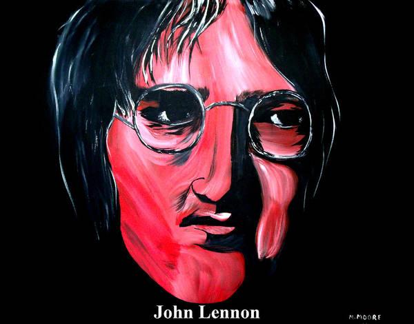 Instant Karma Painting - John Lennon  by Mark Moore