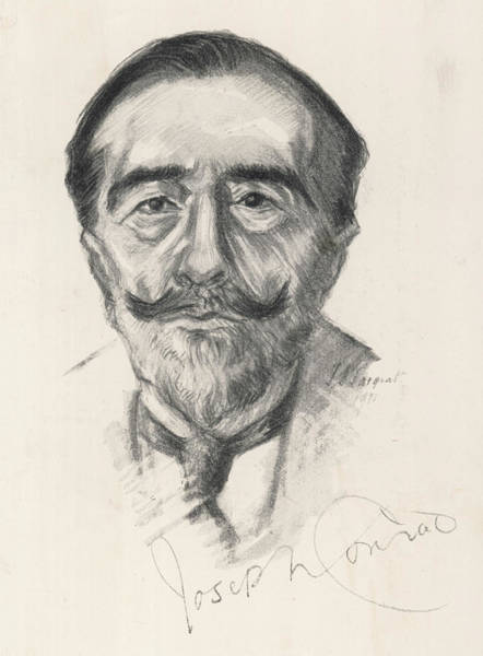 Wall Art - Drawing - Joseph Conrad  Polish-born Writer by Mary Evans Picture Library