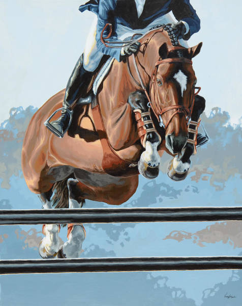 Hunter Wall Art - Painting - High Style  by Lesley Alexander