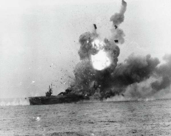 Wall Art - Photograph - Kamikaze Attack In World War II by Us Navy/us National Archives/science Photo Library