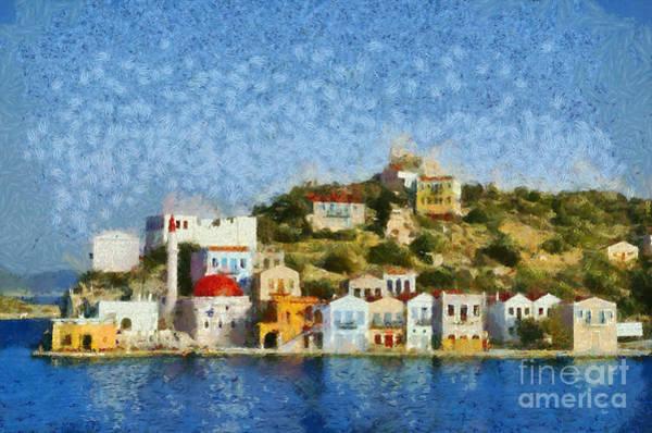 Greek House Painting - Kastellorizo Island by George Atsametakis