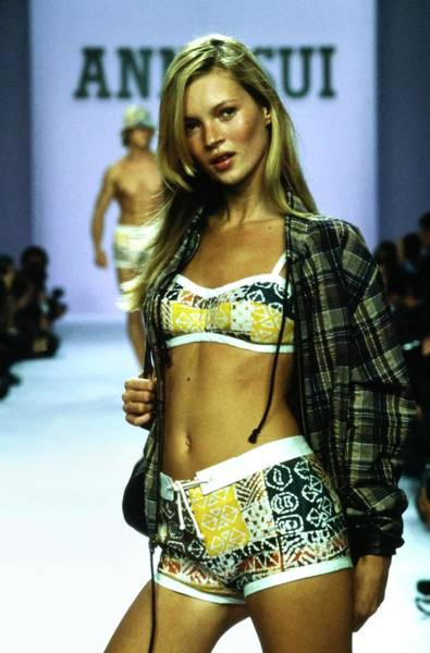 Runway Model Photograph - Kate Moss On A Runway For Anna Sui by Guy Marineau