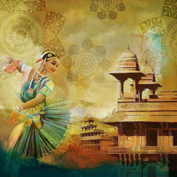 Wall Art - Painting - Kathak Dancer by Catf