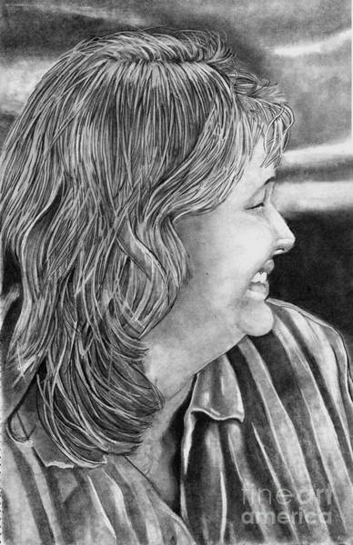 Drawing - Kathy Richards by Bill Richards
