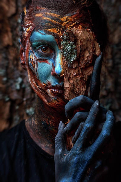 Hand Painted Photograph - Keeper Of The Wood by Ivan Kovalev
