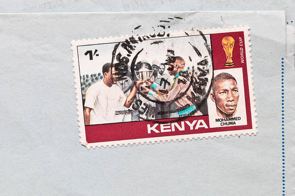 Envelop Wall Art - Photograph - Kenya Stamp by Tom Gowanlock