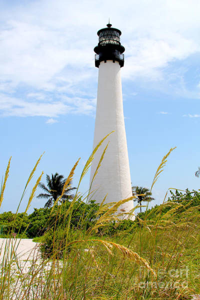 Key Biscayne Photograph - Key Biscayne Lighthouse by Carey Chen