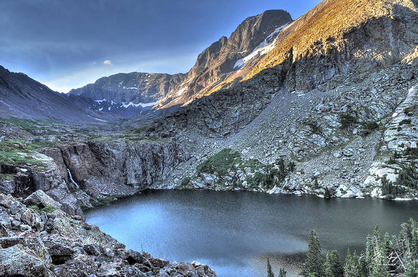 Fourteener Photograph - Kit Carson Peak And Willow Lake by Aaron Spong