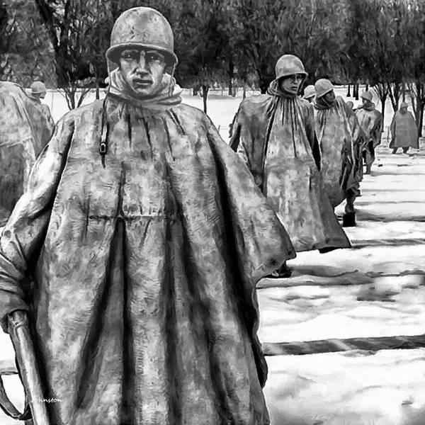 Painting - Korean War Memorial Washington Dc by Bob and Nadine Johnston