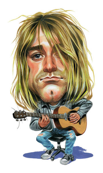 Wall Art - Painting - Kurt Cobain by Art