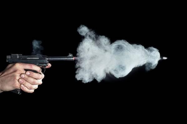 Firepower Photograph - Lahti Pistol Shot by Herra Kuulapaa � Precires