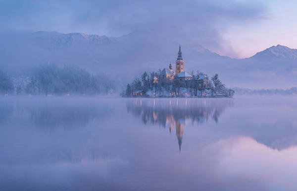 Purple Haze Photograph - Lake Bled by Ales Krivec