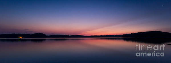 Photograph - Lake Lanier After Sunset by Bernd Laeschke