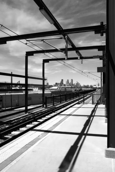 Minneapolis Photograph - Lake Street Rail Station by Jim Hughes