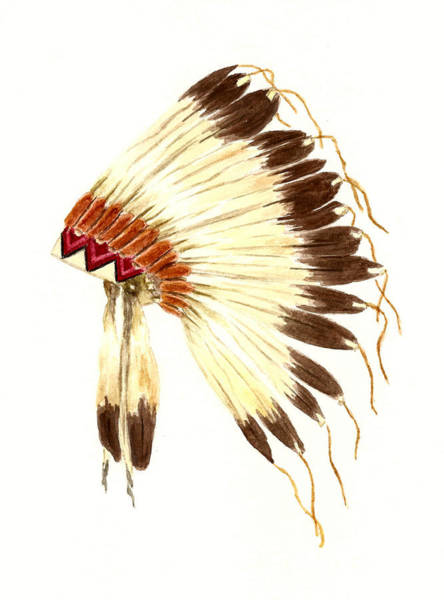 Feather Painting - Lakota Headdress by Michael Vigliotti