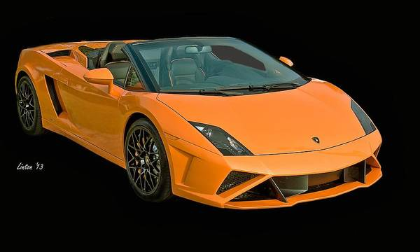 Photograph - Lamborghini by Larry Linton