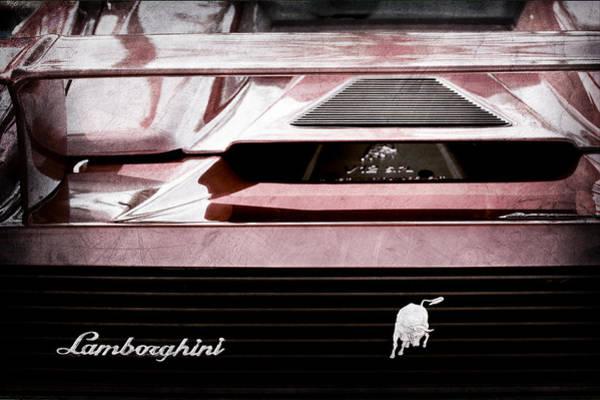 Rear View Photograph - Lamborghini Rear View Emblem by Jill Reger