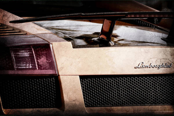 Photograph - Lamborghini Taillight Emblem by Jill Reger