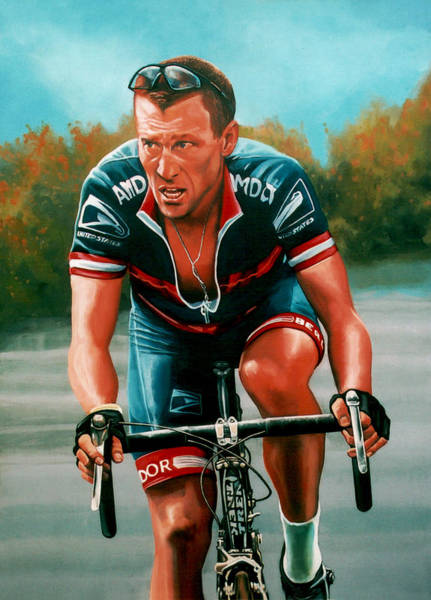 Lance Painting - Lance Armstrong by Paul Meijering