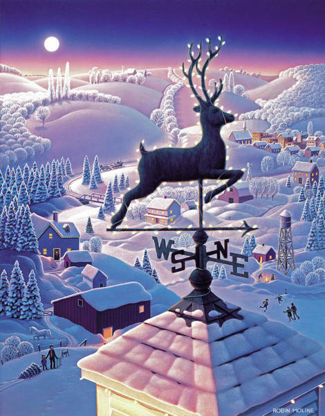 Wall Art - Painting - Lands End Weathervane by Robin Moline