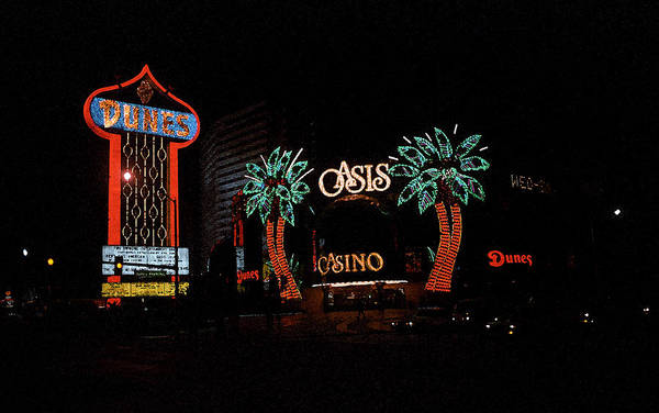 Photograph - Las Vegas With Watercolor Effect by Frank Romeo