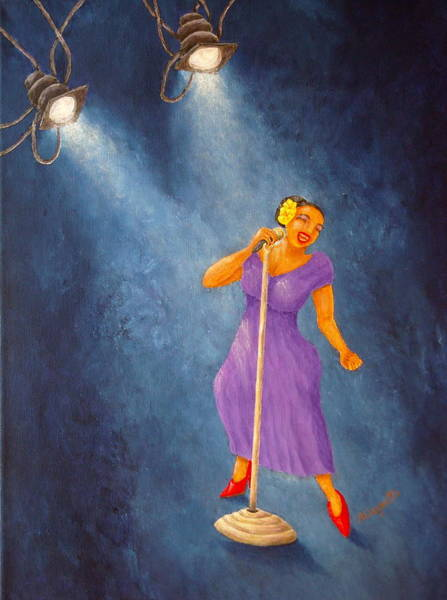 Latina Painting - Latina Jazz Diva by Pamela Allegretto