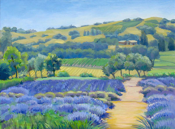 Wall Art - Painting - Lavender Field by Dominique Amendola