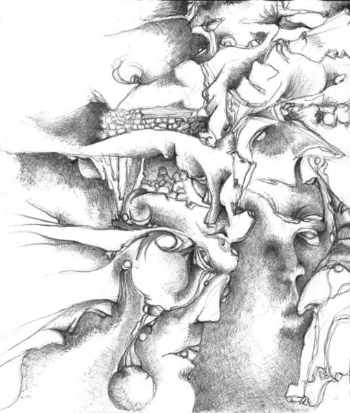 Organic Form Drawing - Levels by Bodhi