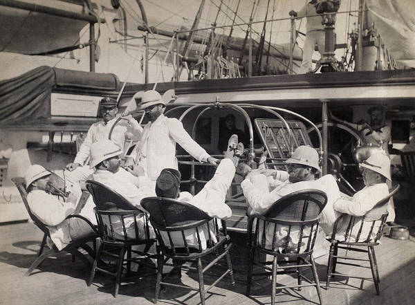 Wall Art - Photograph - Life On Naval Ship, C1885 by Granger