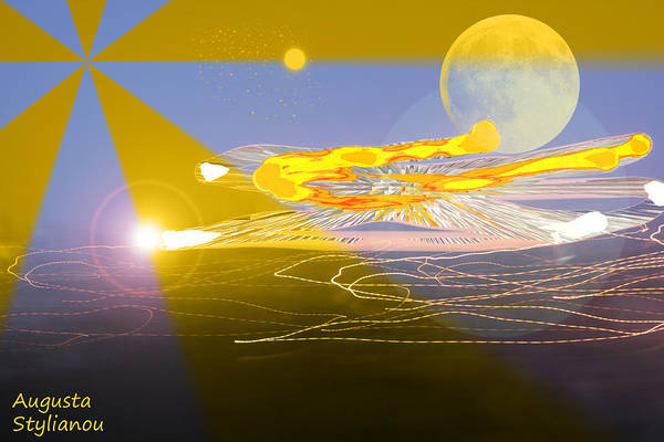 Planets And Moons Digital Art - Light And Planet by Augusta Stylianou