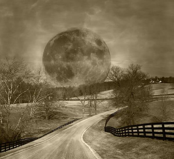 Super Moon Photograph - Light My Way by Betsy Knapp