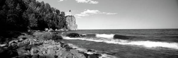 Peacefulness Photograph - Lighthouse On A Cliff, Split Rock by Panoramic Images