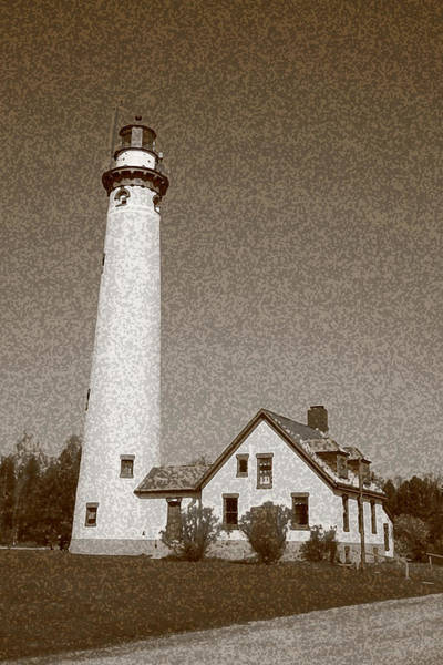 Photograph - Lighthouse With Sponge Painting Effect by Frank Romeo